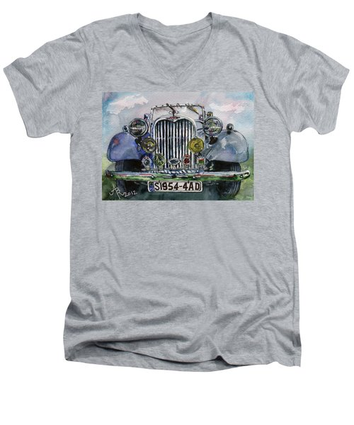 1954 Singer Car 4 Adt Roadster Men's V-Neck T-Shirt