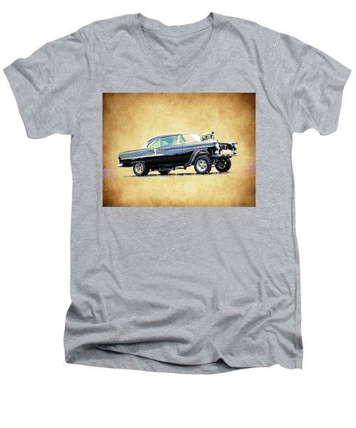 1955 Chevy Gasser Men's V-Neck T-Shirt by Steve McKinzie