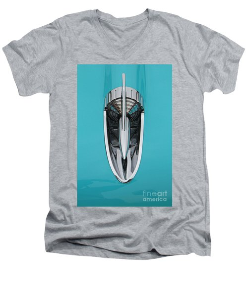 1957 Chevy Hood Ornament Men's V-Neck T-Shirt