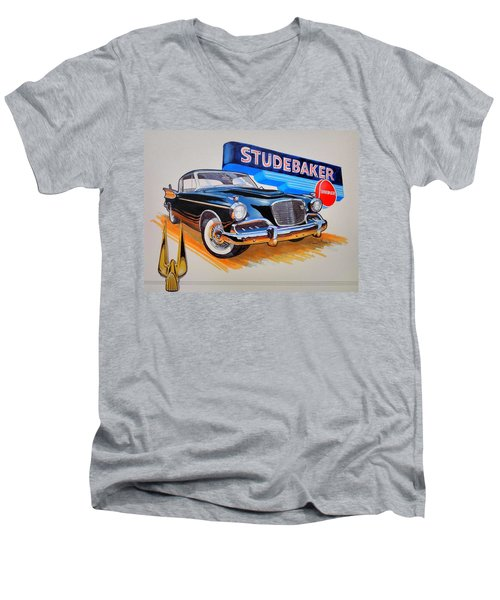 1957 Studebaker Golden Hawk Men's V-Neck T-Shirt