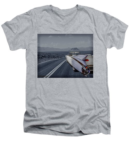1959 Cadillac Eldorado Cool Night Men's V-Neck T-Shirt