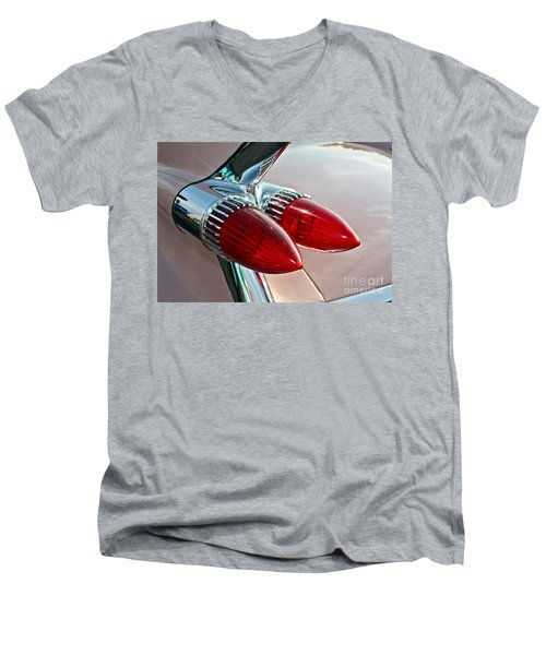 1959 Eldorado Taillights Men's V-Neck T-Shirt by Linda Bianic