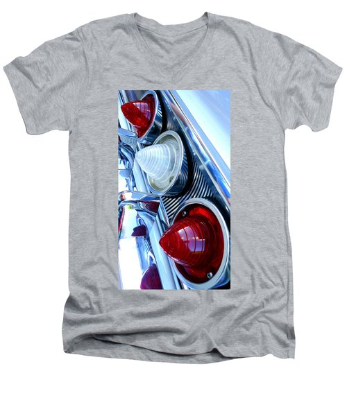Men's V-Neck T-Shirt featuring the photograph 1960 Chevrolet Impala by Joseph Skompski
