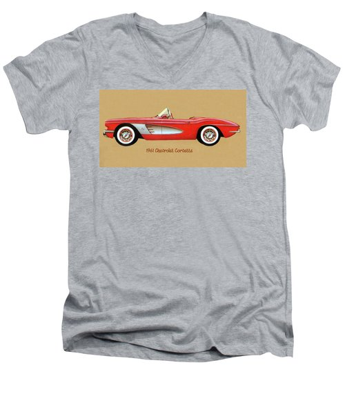 1961 Chevrolet Corvette Men's V-Neck T-Shirt