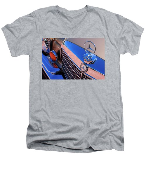 Men's V-Neck T-Shirt featuring the photograph 1971 Mercedes-benz 280se 3.5 Cabriolet  by Jill Reger