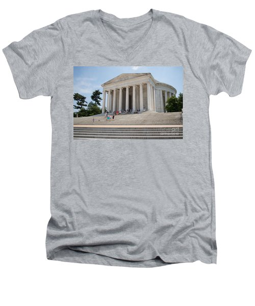 Thomas Jefferson Memorial Men's V-Neck T-Shirt