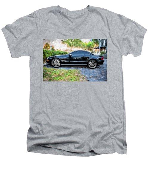 2006 Mercedes Benz Sl55 V8 Kompressor Coupe Painted  Men's V-Neck T-Shirt