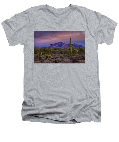 A Beautiful Desert Evening  Men's V-Neck T-Shirt