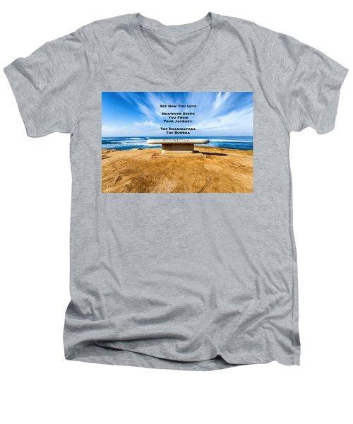 A Buddha Saying Men's V-Neck T-Shirt