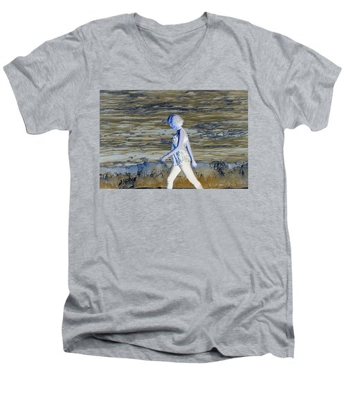 A Chance Of Something Men's V-Neck T-Shirt by Nick David