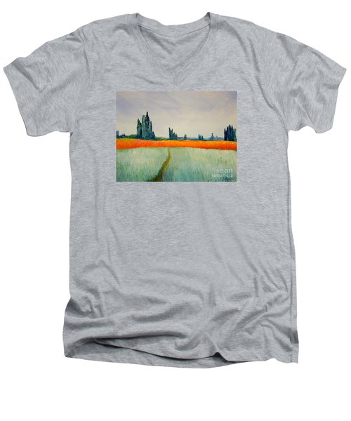 After Monet Men's V-Neck T-Shirt by Bill OConnor