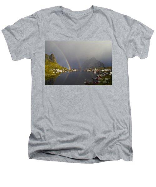 After The Rain In Reine Men's V-Neck T-Shirt