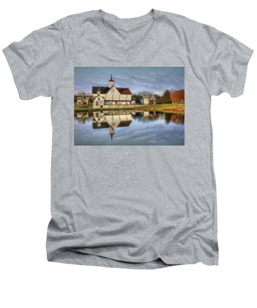 Afternoon At The Star Barn Men's V-Neck T-Shirt by Lori Deiter