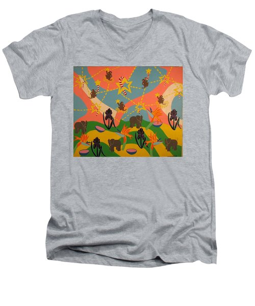 Almost Paradise Men's V-Neck T-Shirt by Erika Chamberlin