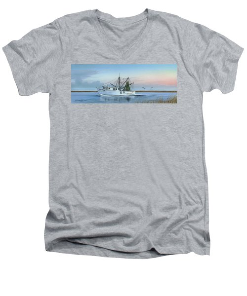 Almost There Men's V-Neck T-Shirt by Mike Brown