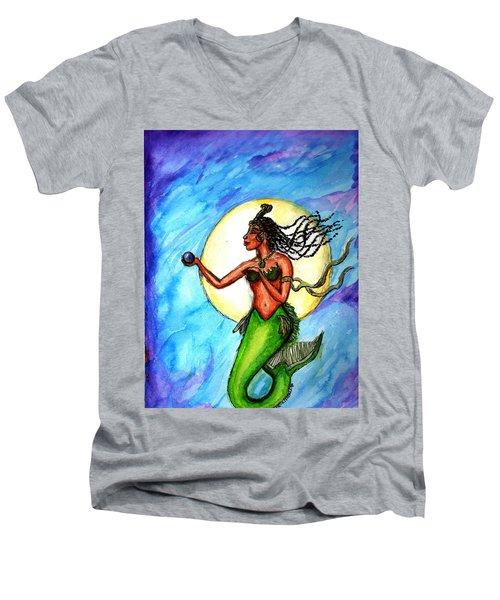 Arania Queen Of The Black Pearl Men's V-Neck T-Shirt