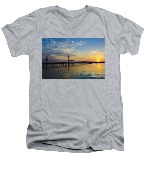 Magical Blue Skies Men's V-Neck T-Shirt by Dale Powell