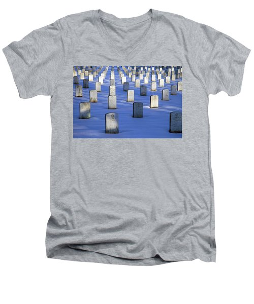 Men's V-Neck T-Shirt featuring the photograph Beneath The Snow by Cora Wandel
