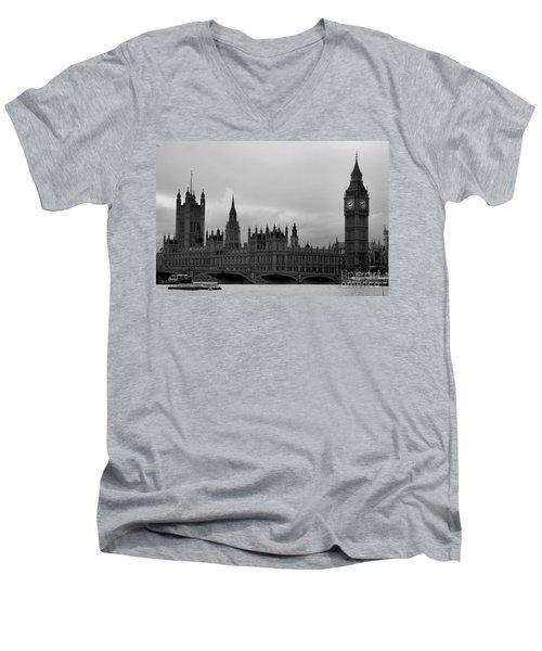 Big Ben Men's V-Neck T-Shirt by Melissa Petrey