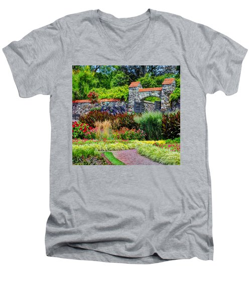 Biltmore Gardens Men's V-Neck T-Shirt by Savannah Gibbs