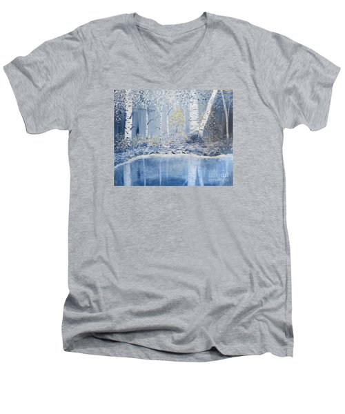 Birch Reflections Men's V-Neck T-Shirt