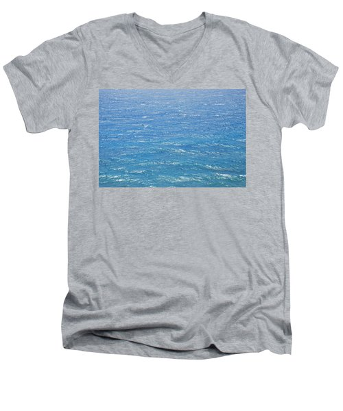 Men's V-Neck T-Shirt featuring the photograph Blue Waters by George Katechis