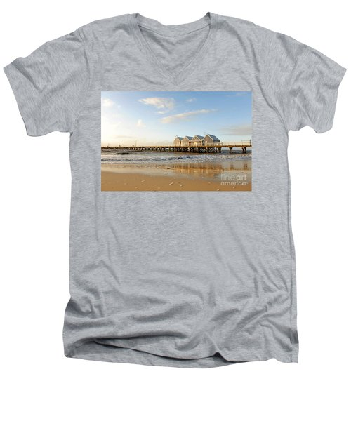 Busselton Jetty Men's V-Neck T-Shirt
