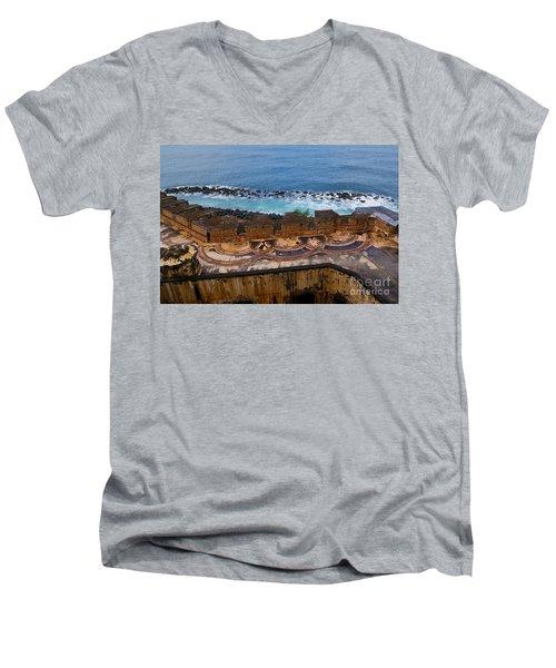 Men's V-Neck T-Shirt featuring the photograph Castillo San Felipe Del Morro by Olga Hamilton