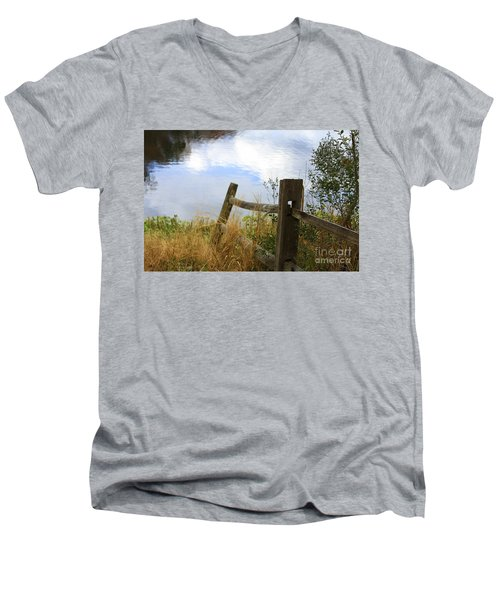 Cloud Reflections Men's V-Neck T-Shirt
