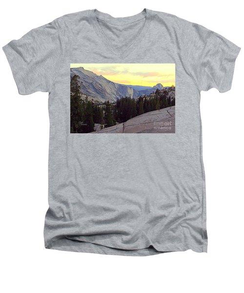 Cloud's Rest And Half Dome Men's V-Neck T-Shirt