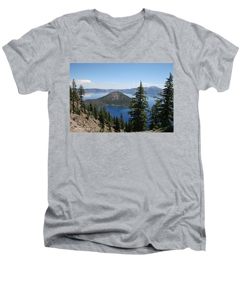 Crater Lake Oregon Men's V-Neck T-Shirt