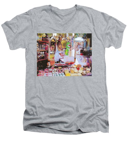 Deli On The Via Condotti Men's V-Neck T-Shirt
