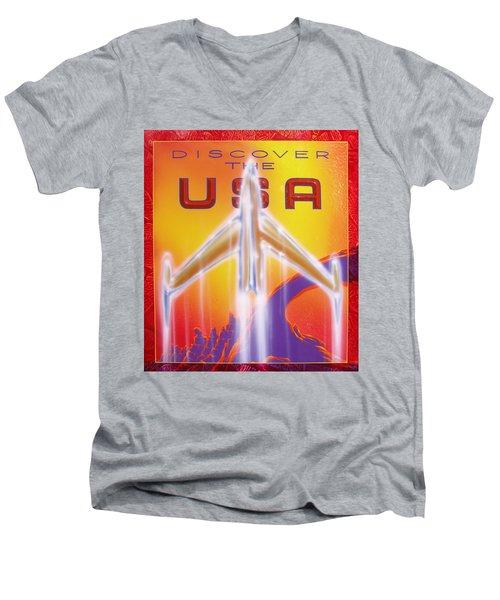 Discover The Usa Men's V-Neck T-Shirt