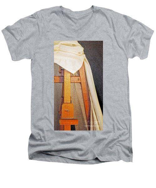 Draped Easel Men's V-Neck T-Shirt