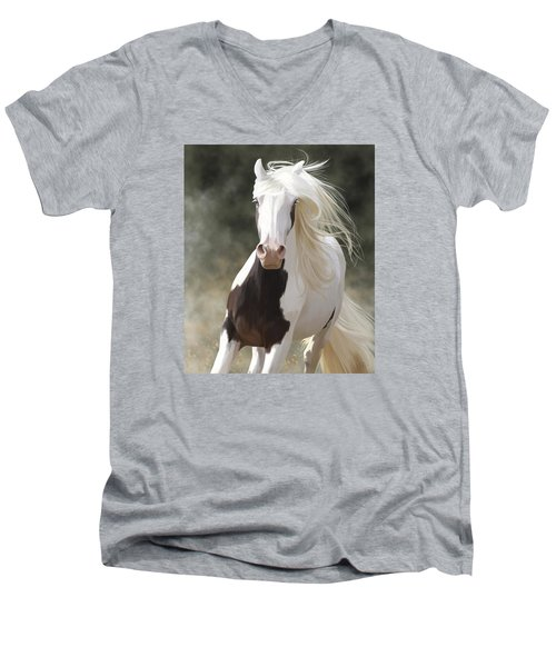 Excitement Men's V-Neck T-Shirt by Kate Black