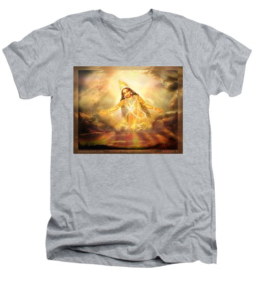 Flying Home  Men's V-Neck T-Shirt by Ananda Vdovic