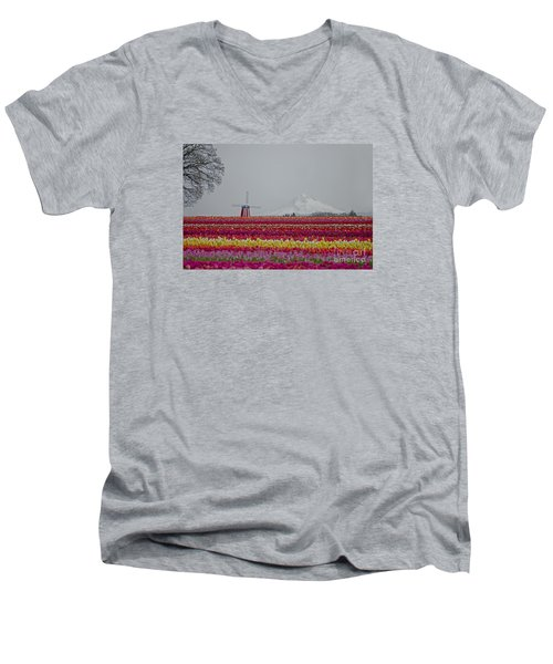 For The Beauty Of The Earth Men's V-Neck T-Shirt by Nick  Boren