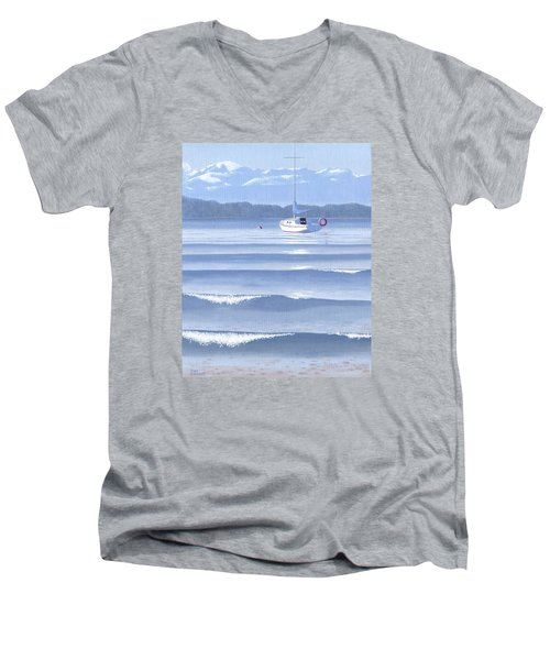 From The Beach Men's V-Neck T-Shirt by Gary Giacomelli