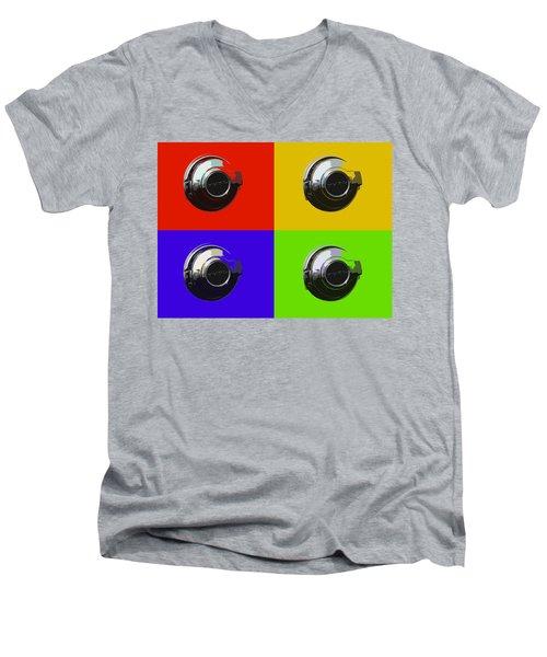 Fuel Cap In Bold Color Men's V-Neck T-Shirt