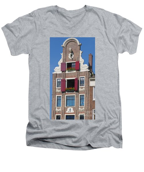 Good Morning Men's V-Neck T-Shirt by Suzanne Oesterling