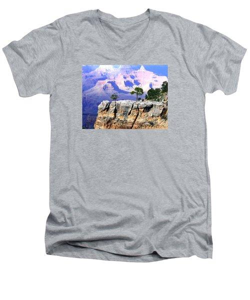 Grand Canyon 1 Men's V-Neck T-Shirt by Will Borden