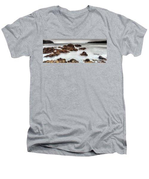 Grey Morning Men's V-Neck T-Shirt by Steven Reed