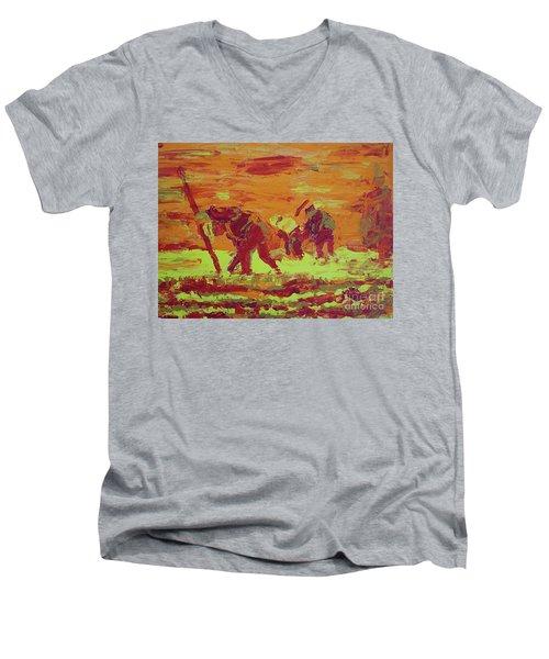 Hot Potatoes Men's V-Neck T-Shirt