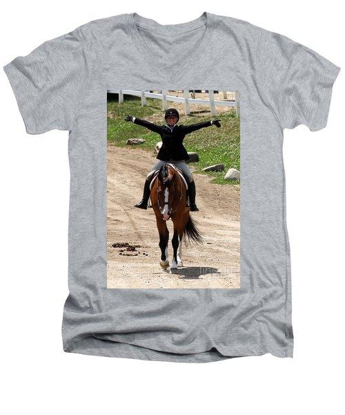 Hunter1 Men's V-Neck T-Shirt