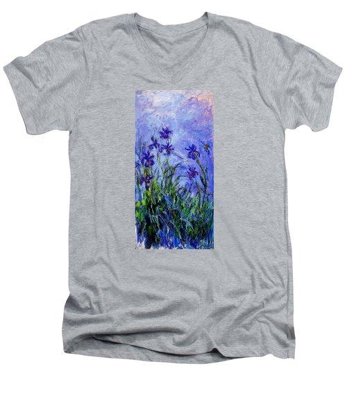 Irises Men's V-Neck T-Shirt by Celestial Images