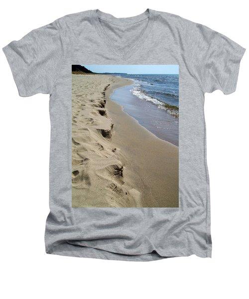 Lake Michigan Shoreline Men's V-Neck T-Shirt