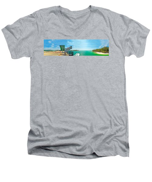 Longboat Pass Drawbridge Men's V-Neck T-Shirt