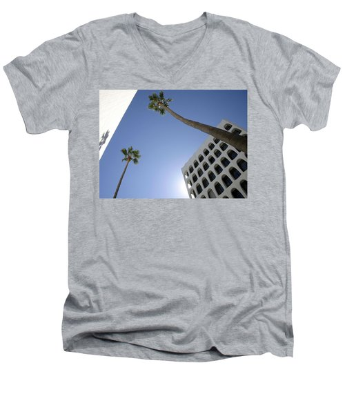 Men's V-Neck T-Shirt featuring the photograph Looking Up In Beverly Hills by Cora Wandel