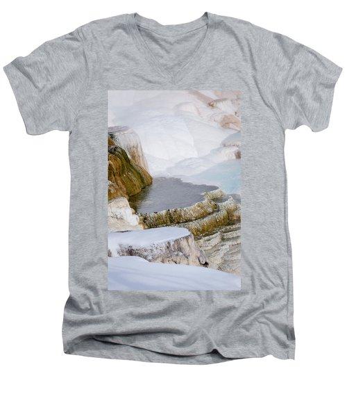 Mammoth Terraces Men's V-Neck T-Shirt