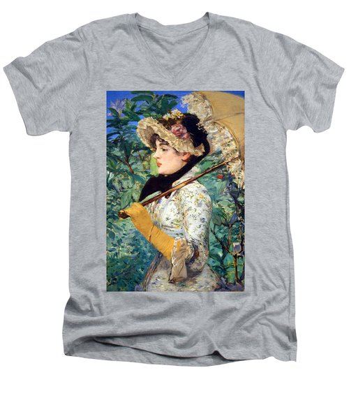 Men's V-Neck T-Shirt featuring the photograph Manet's Spring by Cora Wandel